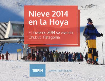 Nieve 2014 en La Hoya, invierno en Chubut Patagonia