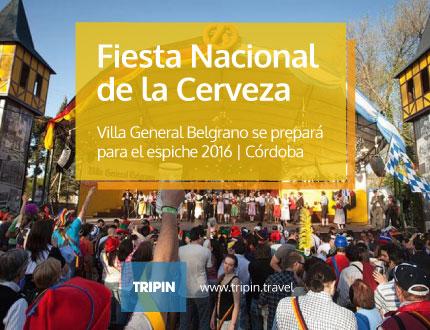 Villa General Belgrano se prepara para el espiche de la Fiesta Nacional de la Cerveza