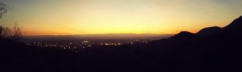 Atardecer desde la Cantina de Montaña, Santa Rosa de Calamuchita