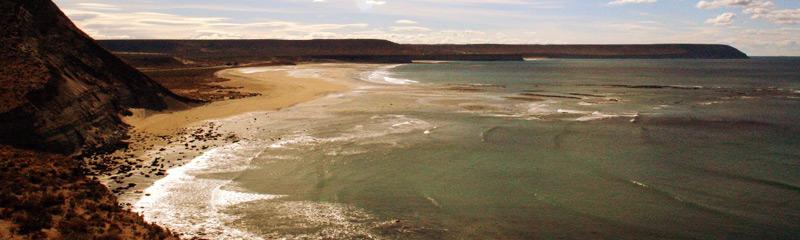 Caleta Olivia y sus hermosos acantilados con vista al mar