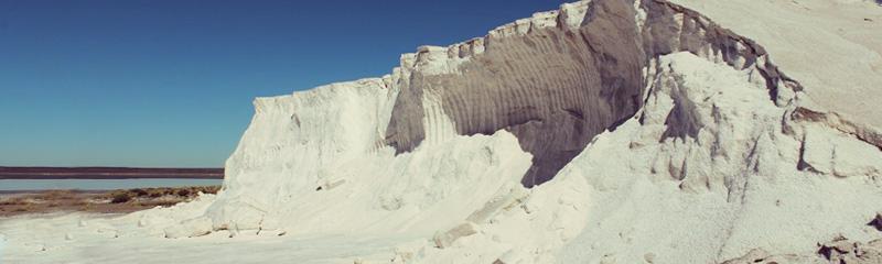 Montaña de sal, en la Salina del Diamante, MDZ