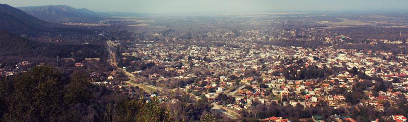 Panorámica de Santa Rosa de Calamuchita desde el Cerro Vía Crucis