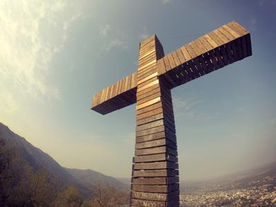 Cruz Mayor, en la cima del Vía Crucis, Santa Rosa de Calamuchita