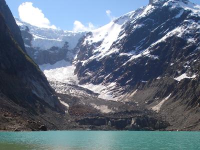 Glaciar Torrecillas y Laguna del Antiguo en Chubut