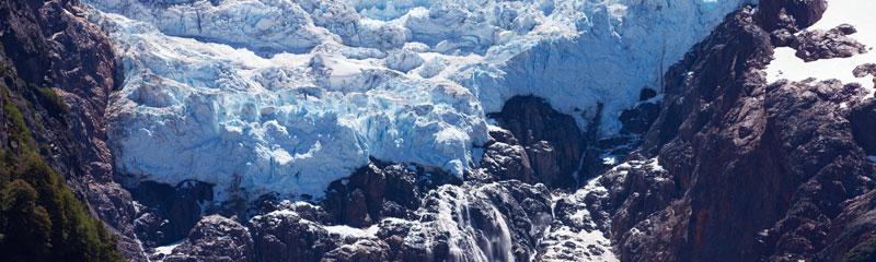 Glaciar Torrecillas en Chubut