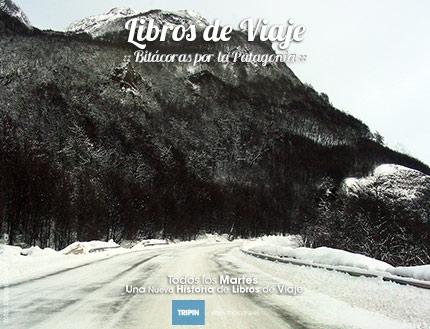 Libros de viaje en el Paso Garibaldi, el ultimo obstaculo del ruta 3 en Tierra del Fuego