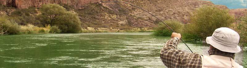 El sur, ideal para los fanaticos de la pesca con mosca, flyfishing