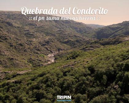 El parque nacional Quebrada del Condorito suma nuevos terrenos