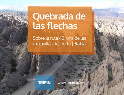 Quebrada de las flechas, sobre la ruta 40, una de las maravillas del norte en Salta
