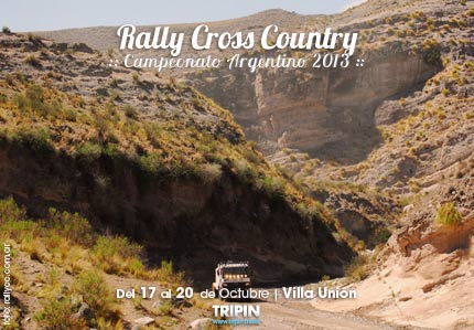 Rally cross country, campeonato argentino 2013 en Villa Unión