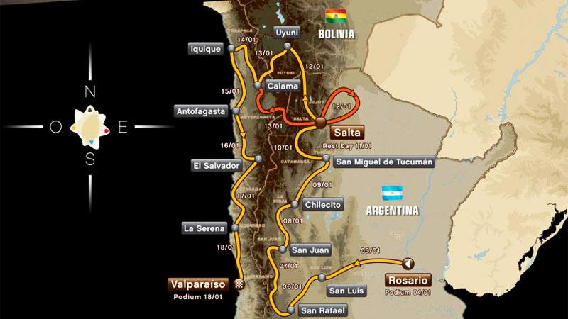 El recorrido del Dakar 2014, la edición recorrerá Argentina - Bolvia - Chile