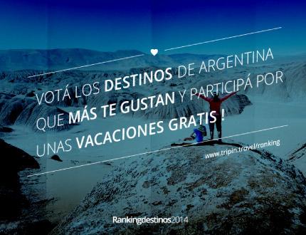 Votá los destinos de Argentina que más te gustan en el #RankingDeDestinos 2014