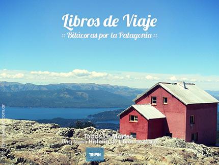 Libros de viaje en el refugio del Cerro López en Bariloche