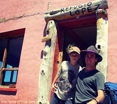 En el Refugio del Cerro Lopez en Bariloche!