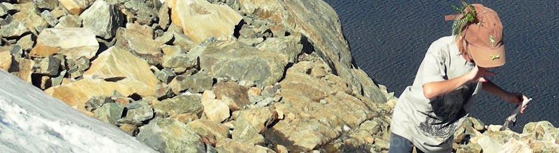 Libros de viaje en el refugio del Cerro Lopez