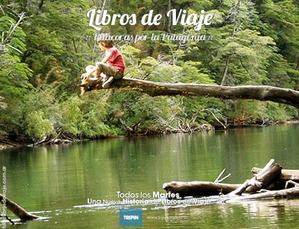 Libros de viaje en Rio Arrayanes, Patagonia Argentina