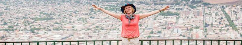 La cima del cerro San Bernardo permite las mejores panorámicas de la ciudad de Salta