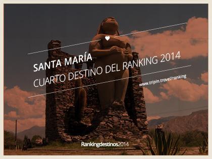 Santa María es el cuarto destinos más votado del Ranking 2014