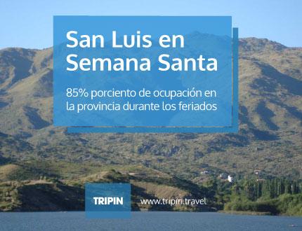 Semana Santa en San Luis con 85% de ocupación