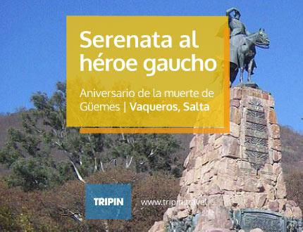 Serenata al heroe gaucho Guemes en Vaqueros Salta, en vispera del aniversario del fallecimiento del general
