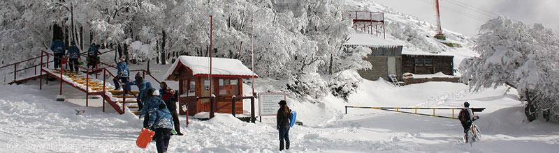El Cerro Otto, a punto de subir al mágico teleférico en Bariloche