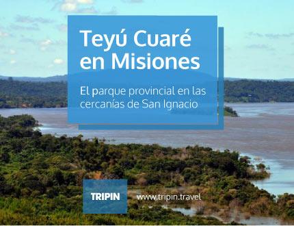 Parque Provincial Teyú Cuaré en las cercanias de San Ignacion en Misiones