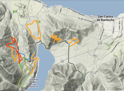 El recorrido de la Endurance Challenge por The North Face en Bariloche