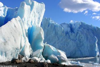 Los increibles bloques de hielo del Glaciar Perito Moreno