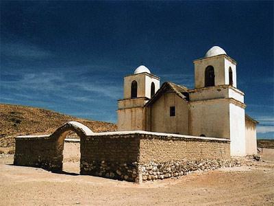 La capilla de cusi cusi, en uno de los encantadores pueblos de la puna jujeña