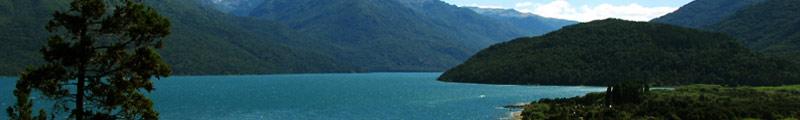 Una vista increible del Lago Puelo en Chubut