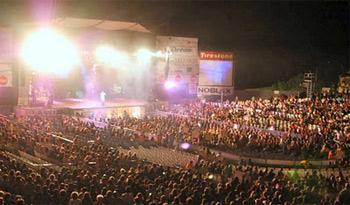 El anfiteatro del festival de peñas