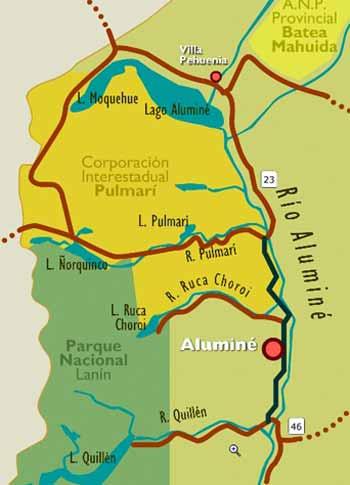Mapa de Areas Protegidas de Aluminé