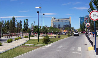 Parque central de la ciudad de Neuquen
