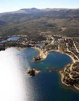 Vista aerea de Villa Pehuenia