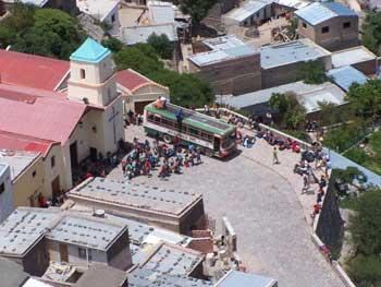 Plaza central de Iruya