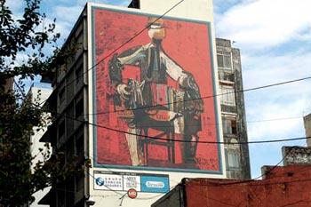Un mural del Museo Urbano-Arte a la Vista reproduce a Vanzo