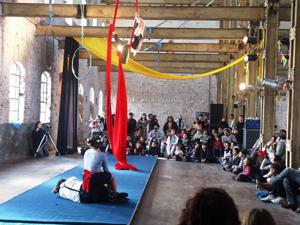 Clases de Circo en el Molino Marconetti de la ciudad de Santa Fe