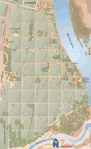 Mapa de Santa Fe La Vieja